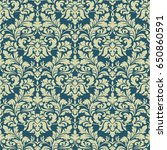 vector damask seamless pattern... | Shutterstock .eps vector #650860591