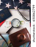 the concept of travel  passport ...