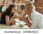 family. mother with daughter in ...   Shutterstock . vector #650864821
