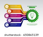 abstract connected gears style... | Shutterstock .eps vector #650865139