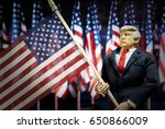 caricature of united states... | Shutterstock . vector #650866009