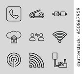 connect icons set. set of 9... | Shutterstock .eps vector #650867959