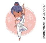 indian girl dancing. | Shutterstock .eps vector #650870047