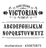hand drawn letters. vector... | Shutterstock .eps vector #650870875