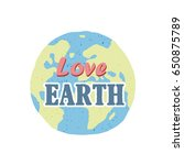 hand drawn earth isolated on... | Shutterstock .eps vector #650875789