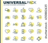 social icons set. collection of ... | Shutterstock .eps vector #650882635
