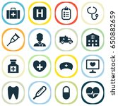 antibiotic icons set.... | Shutterstock .eps vector #650882659