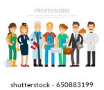labor day. a group of people of ... | Shutterstock .eps vector #650883199