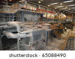 paper and pulp mill   in this... | Shutterstock . vector #65088490