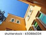 arabic villa in emirates | Shutterstock . vector #650886034