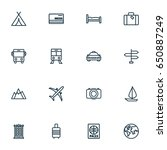 exploration outline icons set.... | Shutterstock .eps vector #650887249