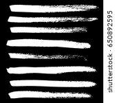 ink vector brush strokes.... | Shutterstock .eps vector #650892595