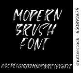 hand drawn dry brush font....   Shutterstock .eps vector #650892679