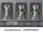 futuristic cryogenic capsules... | Shutterstock .eps vector #650894869