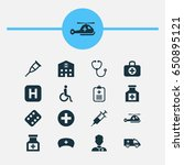 drug icons set. collection of...   Shutterstock .eps vector #650895121