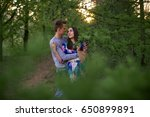 loving guy and girl in a... | Shutterstock . vector #650899891