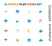 nature flat icons set....   Shutterstock .eps vector #650900521