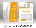 vector flyer template layout...   Shutterstock .eps vector #650902351