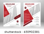 vector flyer template layout... | Shutterstock .eps vector #650902381