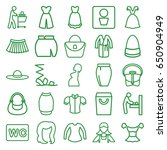 lady icons set. set of 25 lady... | Shutterstock .eps vector #650904949