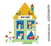 day care or kindergarten... | Shutterstock .eps vector #650908459