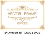 gold photo frame with corner... | Shutterstock .eps vector #650911921