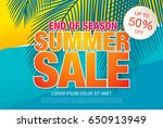 summer sale template banner in... | Shutterstock .eps vector #650913949