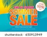 summer sale template banner in... | Shutterstock .eps vector #650913949