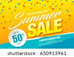 summer sale template banner in... | Shutterstock .eps vector #650913961