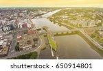 birds eye aerial view cityscape ... | Shutterstock . vector #650914801