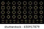 gold vintage decor elements and ... | Shutterstock . vector #650917879