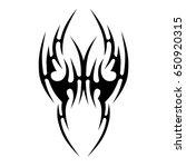 tattoo tribal vector designs.... | Shutterstock .eps vector #650920315