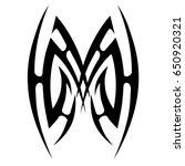 tribal tattoo art designs.... | Shutterstock .eps vector #650920321