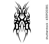 tribal tattoo art designs.... | Shutterstock .eps vector #650920381