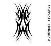 tattoo tribal vector design....   Shutterstock .eps vector #650920411