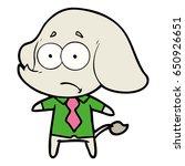 cartoon unsure elephant in...   Shutterstock .eps vector #650926651