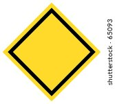 blank yellow black traffic sign.... | Shutterstock . vector #65093