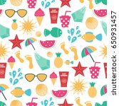 summer time vector seamless... | Shutterstock .eps vector #650931457