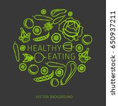 concept of healthy eating ... | Shutterstock .eps vector #650937211