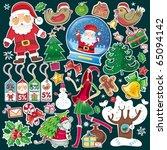 big  vector set of christmas... | Shutterstock .eps vector #65094142