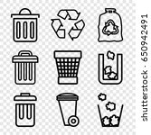 recycling icons set. set of 9... | Shutterstock .eps vector #650942491