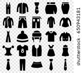 apparel icons set. set of 25... | Shutterstock .eps vector #650943181