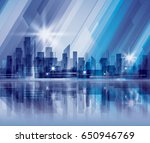 abstract waterfront night city... | Shutterstock . vector #650946769