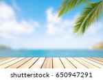 sea sky  coconut tree in the... | Shutterstock . vector #650947291