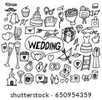 wedding doodle sketch vector ink   Shutterstock .eps vector #650954359
