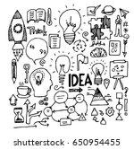 idea doodle sketch vector ink | Shutterstock .eps vector #650954455
