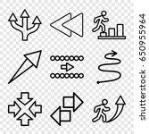 forward icons set. set of 9...   Shutterstock .eps vector #650955964