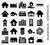 estate icons set. set of 25... | Shutterstock .eps vector #650956141