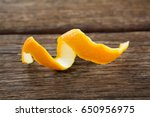 close up of spiral orange peel... | Shutterstock . vector #650956975