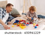 funny child playing with new... | Shutterstock . vector #650961229